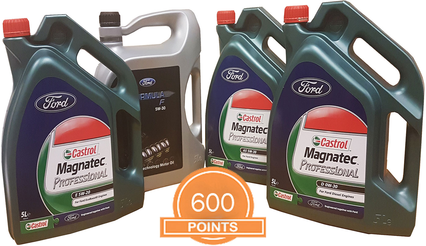 4 x 5 Litre Castrol Ford 5W/30 Oil